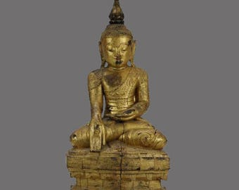 Antique SHAN Seated Buddha