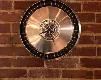Repurposed **Vintage Ford Motor Company** Hubcap TimeClock