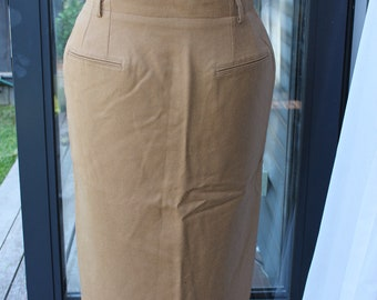 Synonyme Fawn straight skirt