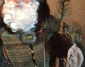 HandCrafted Santa on etsy - SALE-OOAK Hand Sculpted Santa by Nonna's Santas - Father Christmas
