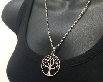 Tree of Life Necklace / Bronze Tree of Life Pendant on Cable Chain / Charm Necklace /  Bohemian Necklace / Layering Jewelry