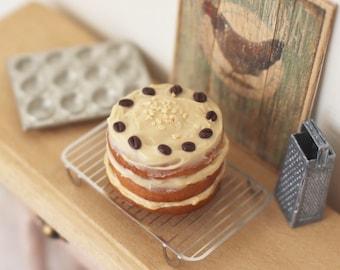 Dolls House Miniature Coffee Cake