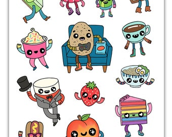 Food Friends Sticker Sheet