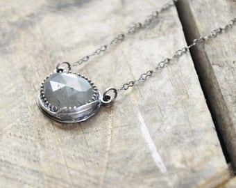 Feather Labradorite Pendant / Modern Jewelry