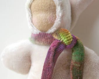 "Pocket Doll Stocking Stuffer: Waldorf Pocket Gnome (Organic & Natural Toy, 5"" Soft Baby Doll)"