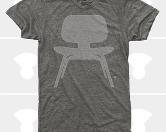 Men's TShirt Eames Plywood Chair (Men), American Apparel T-Shirt S,M,L,Xl,Xxl, Mid Century Modern, Eames Chair Shirt (4 Colors) for Men