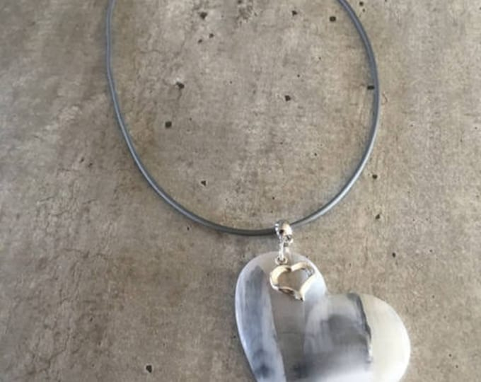 necklace with heart pendant - new collection