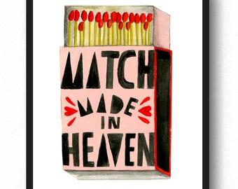 Match Made in Heaven Art Print - Lisa Congdon