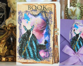 Marie Antoinette Halloween Maleficent Card Set 6 with Purple Metallic Envelopes and Seals