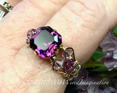 Amethyst Ring, Genuine Sw...