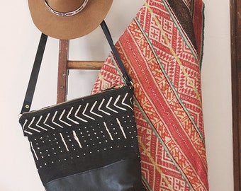 Hipster Diaper Bag, Modern Diaper Bag, Everyday Bag, Stylish Laptop Bag, Black Leather Crossbody, Ethnic Crossbody, Boho Bag
