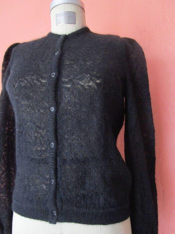 Puff Sleeve Vintage 1970s Ted Lapidus Boutique Haute Couture Paris Italy Mohair