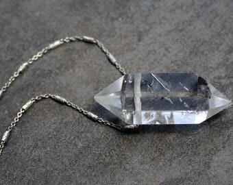 Quartz Crystal Point Necklace