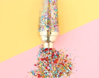 Confetti Filled Cocktail Shaker with Gold Lid - gift for the spirits sipper!