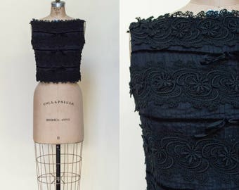 Vintage 1960s Black Holiday Blouse Isabelle Gerhart