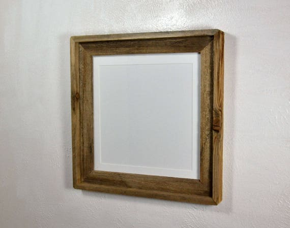 10x10 White Mat In 12x12 Rustic Style Reclaimed Wood