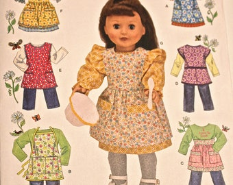 "18"" Simplicity Pattern 2761, Vintage Style APRONS for Dolls such as American Girl, Battat, Our Generation and Similar Dolls"