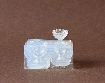 Dollhouse Miniature Jelly Dessert Cup Silicone Mold