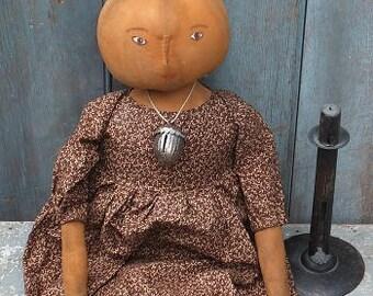 Primitive Pumpkin Doll- Tansy
