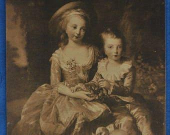 Art Portrait Dauphin Royal Princess France Children Vigee-Lebrun French Antique Postcard Versailles Museum