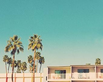 Palm Springs photograph, palm trees print, boho decor, Desert art, California home, nursery wall art, Summer decor, tropical, architecture