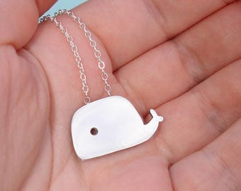 Little Whale Sterling Silver Pendant