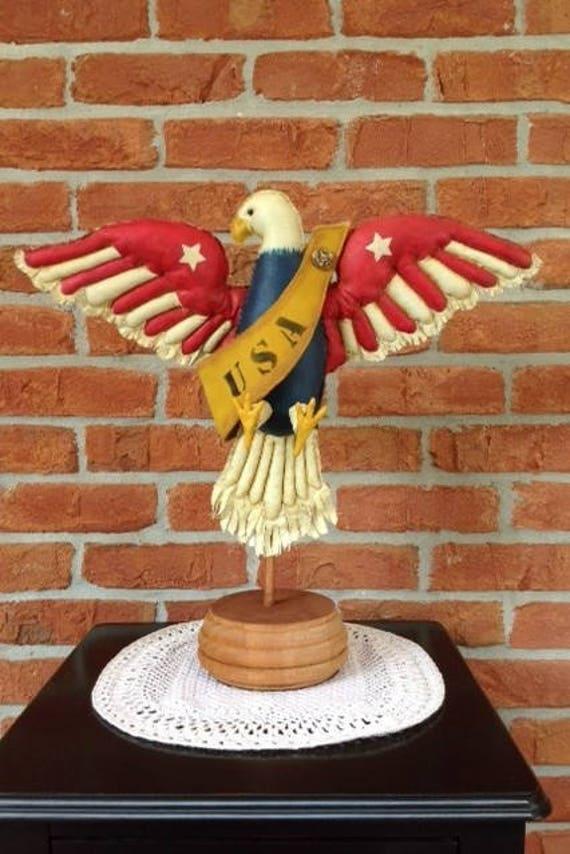 Cloth Doll E-Pattern American Folk Art Eagle