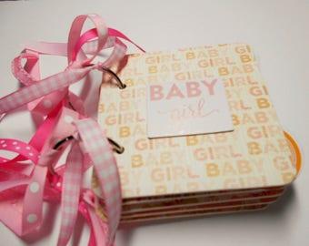 Baby Girl Scrapbook, Premade Album, Baby Girl Brag Book, Mini Album, Baby Girl Memory Book, Baby Girl Photo Album, baby Girl Album