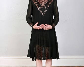 1920s Lace Dress FLAPPER GOWN