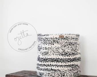 Crochet Pattern / Chunky Crochet Storage Basket, Nursery Room Organization, Home Decor / THE VAIL Basket