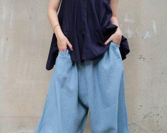 Linen  Pants (135 B) One Size /Funky pants/Hippie pants/Harem pants