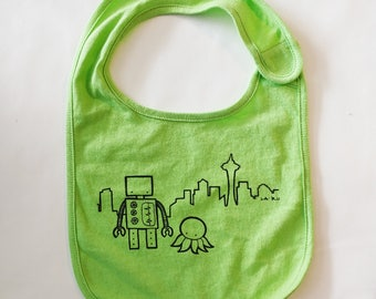 Robot and Octopus in Seattle Bib
