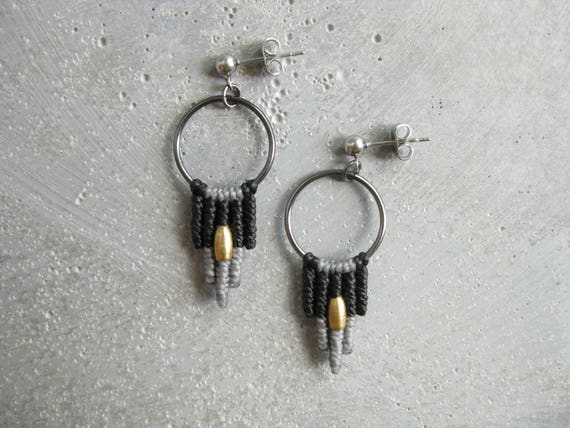 Samba . Modern Macrame Earrings . © Design by .. raïz .. All Rights Reserved.