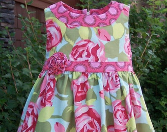 """GIRLS DRESS PATTERN,  sizes included to fit ages 2-6, """"The Lillie Mae Dress"""", instant digital download, 30 picture photo tutorial"""