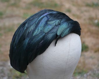 Vintage Raven Feather Hat by Dayne