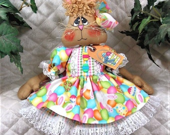 "Primitive Raggedy 20""~EaStEr~""BoNNiE BuNNy""~Doll~SO Sweet!"