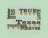 Wedding Subway Art Embroidery Design -----DIGITIZING SERVICE----- 4 digital files sizes available
