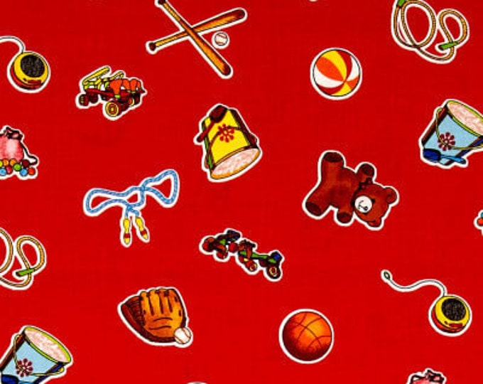 WEE PLAY CHILDREN'S Cotton Fabric by Kathy Brown of The Teacher's Pet for Red Rooster Fabrics 44 inches wide