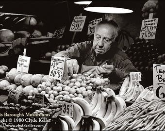 MORRIS BAROUGH'S MUSHROOMS, Pike Place Market, Clyde Keller photo