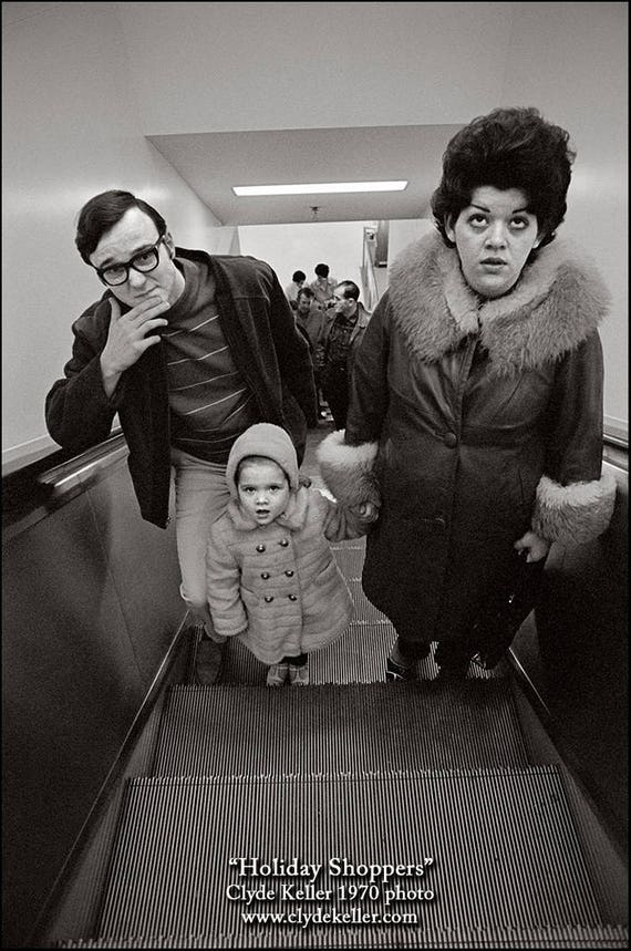 HOLIDAY SHOPPERS, Lloyd Center, Portland, Clyde Keller '70 photo