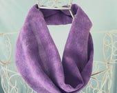 Purple Infinity Scarf, violet scarf, silk scarf uk, handpainted scarf, purple scarf, infinity scarf, snood scarf, purple silk scarf, S548
