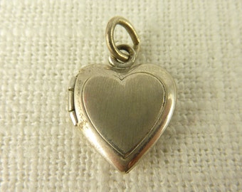 Vintage Sterling Heart Locket Charm
