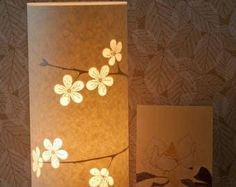 Flower Paper Table Lamp / Anniversary Gift / Gift Ideas / Small / Cherry Blossom / Hannah Nunn