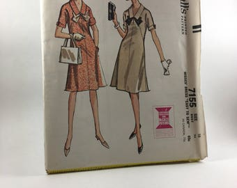 "1960's Dress Pattern - McCall's 7155 Misses' Dress ""Easy to Sew"" - Size 16 - Darling Dress!"