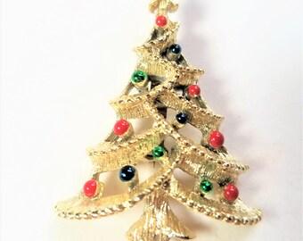 Gerrys Christmas Tree Pin Vintage