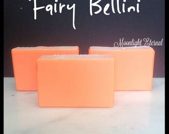 Fairy Bellini - Peach Soap - Smells Like A Peach Bellini - Handmade Soap - Artisan Soap - Soap With Silk - Bar Soap