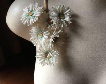 Ivory Beige Daisy Vintage Strawflowers for Millinery, Headbands, Fall Bridal MF 44MA