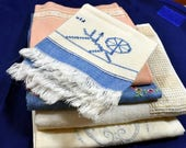 Vtg Handwoven Tea/Guest/Hand/Linen-Flax Towels-Lot of 5-Berea College KY-Very Good Condition