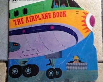 1972 The Airplane Book Golden Shape Children's Book