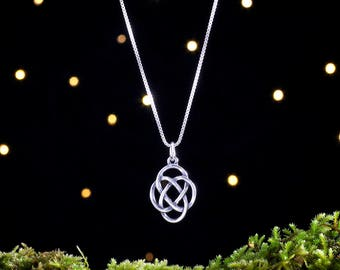 Sterling Silver Celtic Love Knot - Double Sided - (Pendant, Necklace or Earrings)